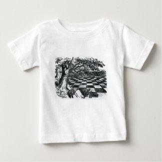 Camiseta Para Bebê O conselho de xadrez no país das maravilhas
