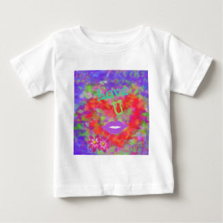 Camiseta Para Bebê O coração igualmente fala do amor