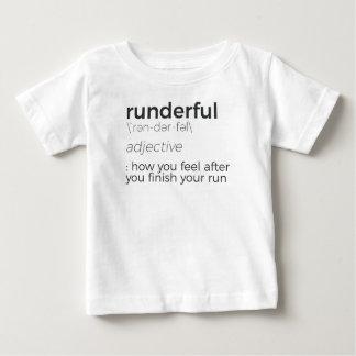 Camiseta Para Bebê O corredor alto do corredor da precipitação da