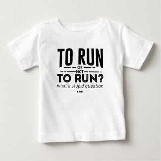 Camiseta Para Bebê O corredor funcionado os corredores é design da