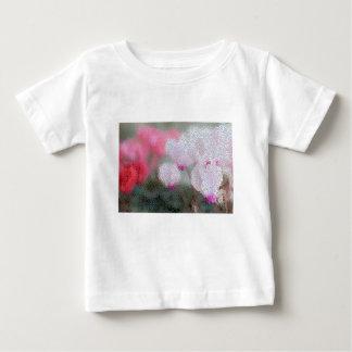 Camiseta Para Bebê O Cyclamen floresce o mosaico