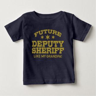 Camiseta Para Bebê O deputado xerife futuro gosta de meu vovô