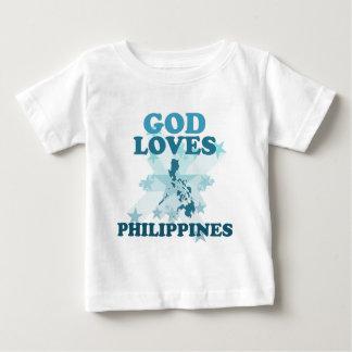 Camiseta Para Bebê O deus ama Filipinas
