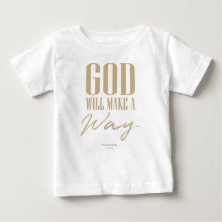 Camiseta Para Bebê O deus fará uma maneira
