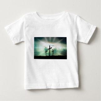 Camiseta Para Bebê O deus transversal Jesus da fé do cristo nubla-se