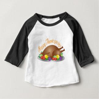 Camiseta Para Bebê O dia da acção de graças cozeu a ilustração do