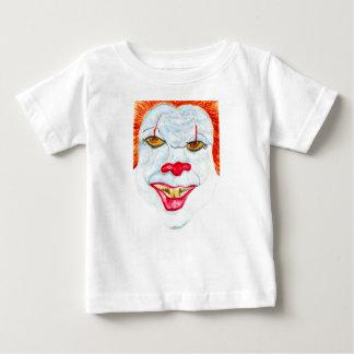 Camiseta Para Bebê O Dia das Bruxas Clown2 assustador