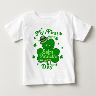 Camiseta Para Bebê O dia do primeiro St Patrick do bebé conhecido