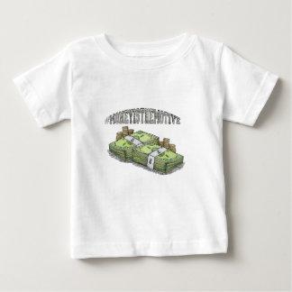 Camiseta Para Bebê O dinheiro é a coleção a motor