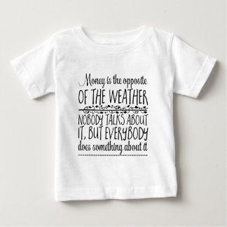 Camiseta Para Bebê O dinheiro é o oposto do tempo. Ninguém