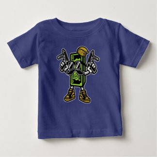 Camiseta Para Bebê O dinheiro ordena o t-shirt do bebê