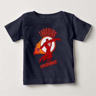 Camiseta Para Bebê o disco de jogo é minha superpotência