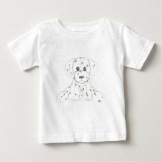Camiseta Para Bebê o doodle simples do cão caçoa o dalmatian branco