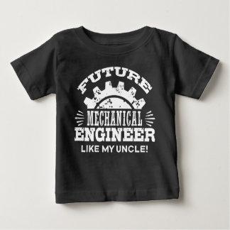 Camiseta Para Bebê O engenheiro mecânico futuro gosta de meu tio