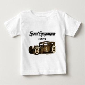 Camiseta Para Bebê O equipamento da velocidade vendeu o aqui-Rato