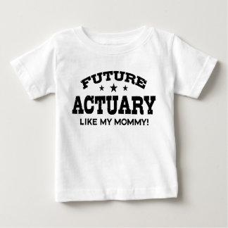 Camiseta Para Bebê O escrivão futuro gosta de minhas mamães