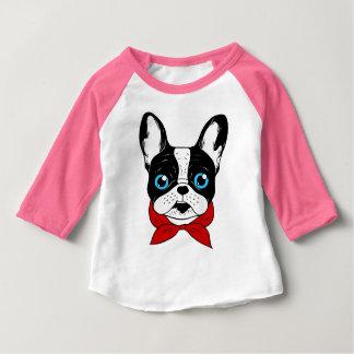 Camiseta Para Bebê O escuteiro bonito de Frenchie está pronto para