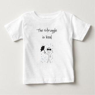 Camiseta Para Bebê O esforço da falha do guarda-chuva é real