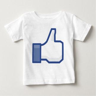 Camiseta Para Bebê o facebook GOSTA de me de manusear acima!