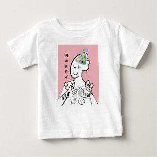 Camiseta Para Bebê O feliz ano novo do ASL