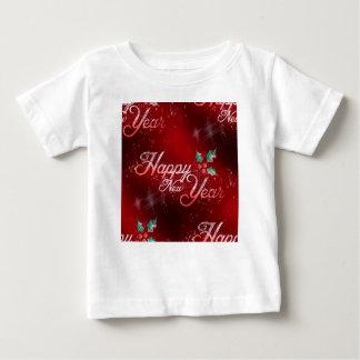 Camiseta Para Bebê o feliz ano novo do azevinho