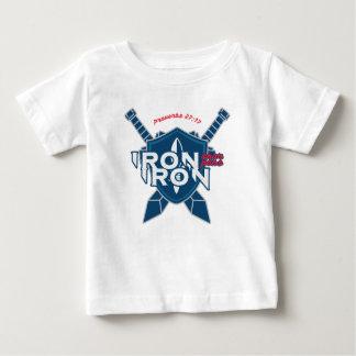 Camiseta Para Bebê O ferro do 27:17 dos provérbio Sharpens o ferro