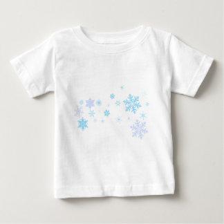 Camiseta Para Bebê O floco de neve Spangled a bandeira