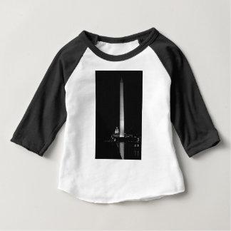 Camiseta Para Bebê O fulgor de 0031 Washington (noite B&W).JPG