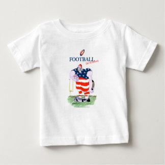 Camiseta Para Bebê O futebol não toma nenhum prisioneiro, fernandes