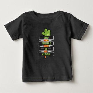Camiseta Para Bebê O futuro é Vegan