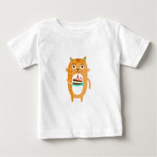 Camiseta Para Bebê O gato com partido atribui a WTI Funky estilizado