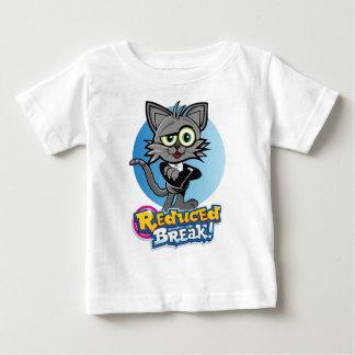 Camiseta Para Bebê O gato louco reduzido da ruptura!