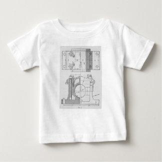 Camiseta Para Bebê O gráfico do mecânico industrial do vintage
