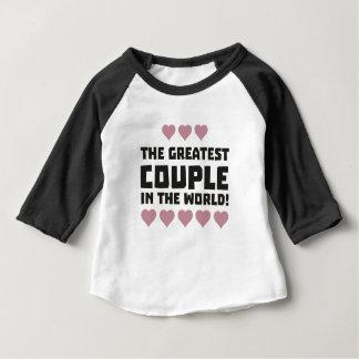 Camiseta Para Bebê O grande amor Zg5qi do casal
