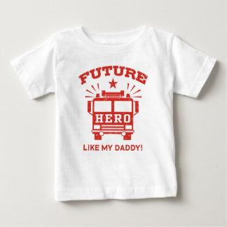 Camiseta Para Bebê O herói futuro gosta de meu pai