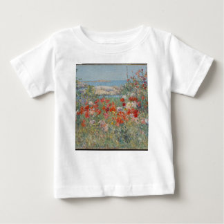 Camiseta Para Bebê O jardim de Celia Thaxter, ilhas dos bancos de