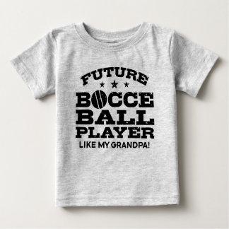 Camiseta Para Bebê O jogador futuro da bola de Bocce gosta de meu