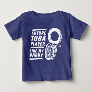 Camiseta Para Bebê O jogador futuro da tuba gosta de meu pai