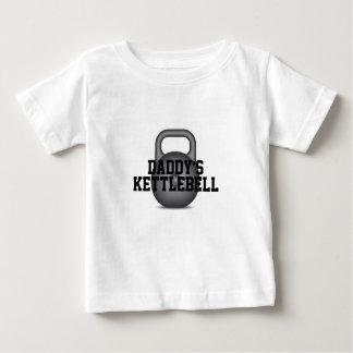 Camiseta Para Bebê O Kettlebell do pai