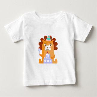 Camiseta Para Bebê O leão com partido atribui Funky estilizado