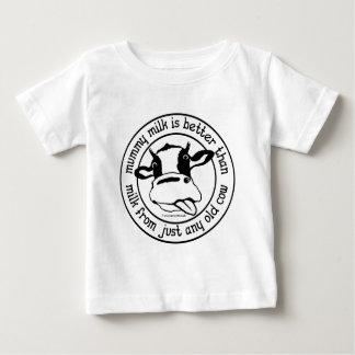 Camiseta Para Bebê O leite da mamã, melhora do que ordenha apenas de
