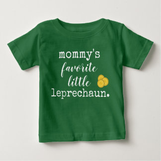 Camiseta Para Bebê o leprechaun. pequeno favorito da mamã
