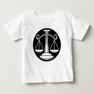 Camiseta Para Bebê O Libra escala o sinal do horóscopo do zodíaco