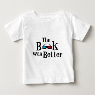 Camiseta Para Bebê O livro era melhor