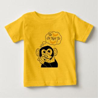 Camiseta Para Bebê O macaco de Shakespeare
