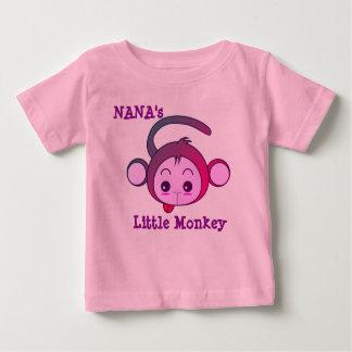 Camiseta Para Bebê O macaco pequeno de Nana