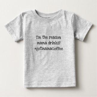 Camiseta Para Bebê o mama bebe o café