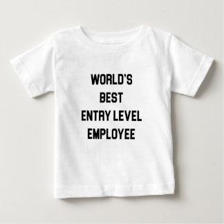 Camiseta Para Bebê O melhor empregado do nível básico