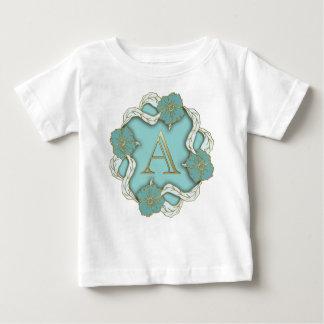 Camiseta Para Bebê O melhor fundo do monograma da inicial da letra do