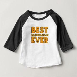 Camiseta Para Bebê O melhor matemático nunca